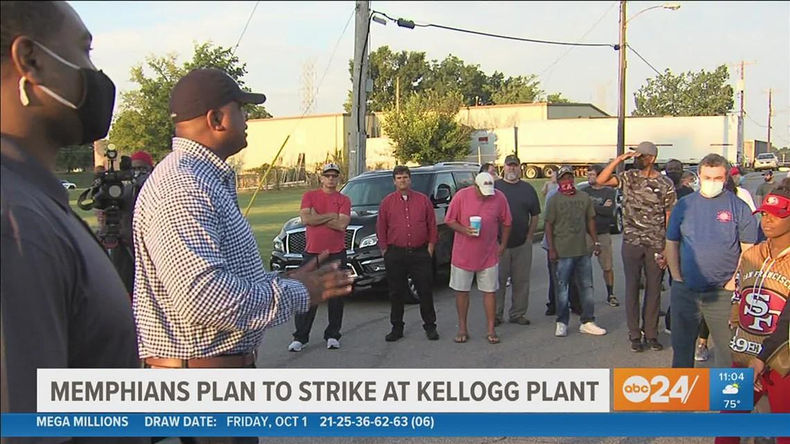 Kellogg's employees in Memphis go on strike