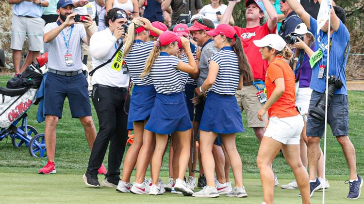 Gosh almighty! Ole Miss overwhelms Oklahoma State to claim NCAA title in women's golf