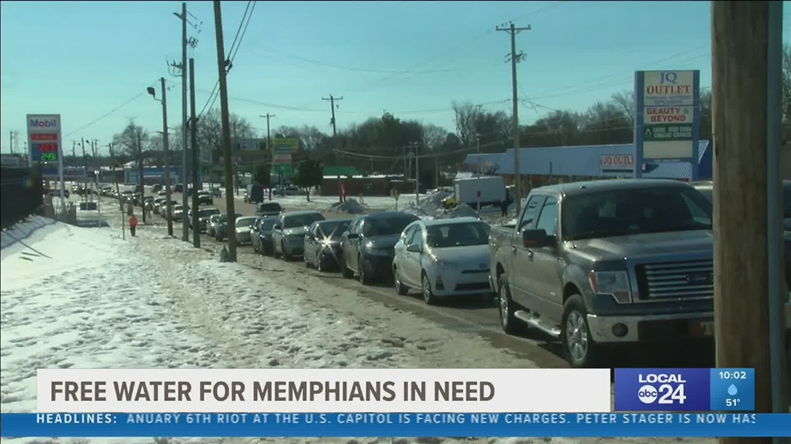 City of Memphis hosts free water distribution