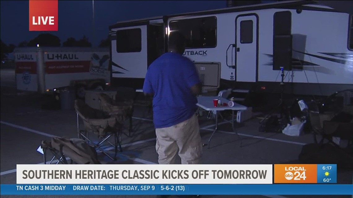 Tailgating starts early for Southern Heritage Classic