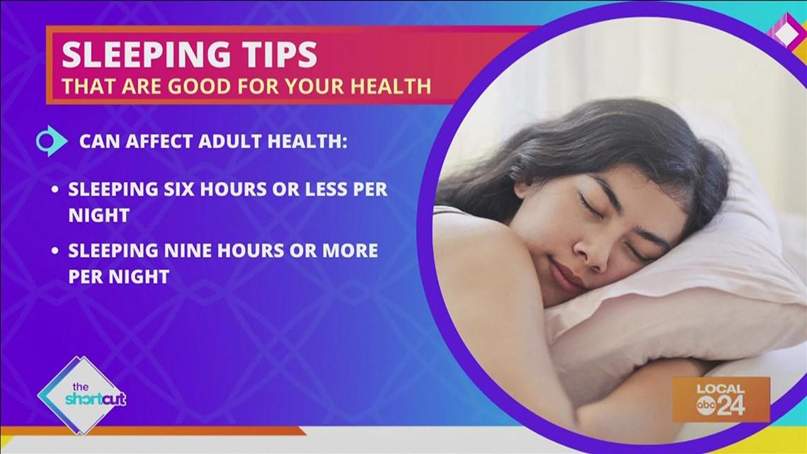 Healthy sleeping tips