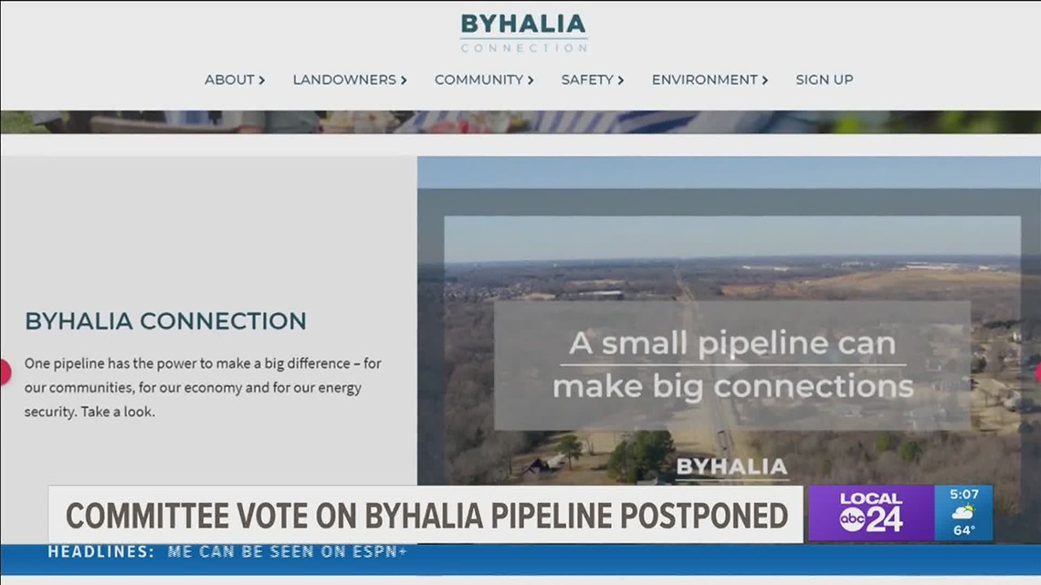 Memphis City Council postpones vote on resolution against Byhalia Pipeline