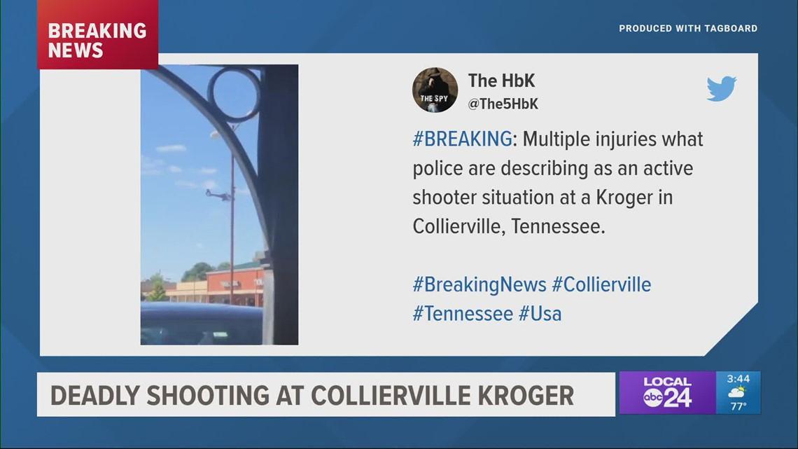 13 shot at Collierville Kroger, shooter killed