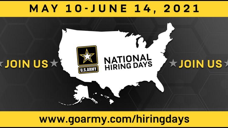 Army National Hiring Days virtual event runs through June 14