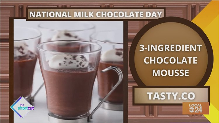 Easy 1-2-3-ingredient chocolate mousse recipe