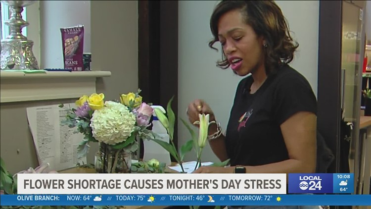 Memphis florist says a flower shortage shouldn't impact gifts for Mother's Day
