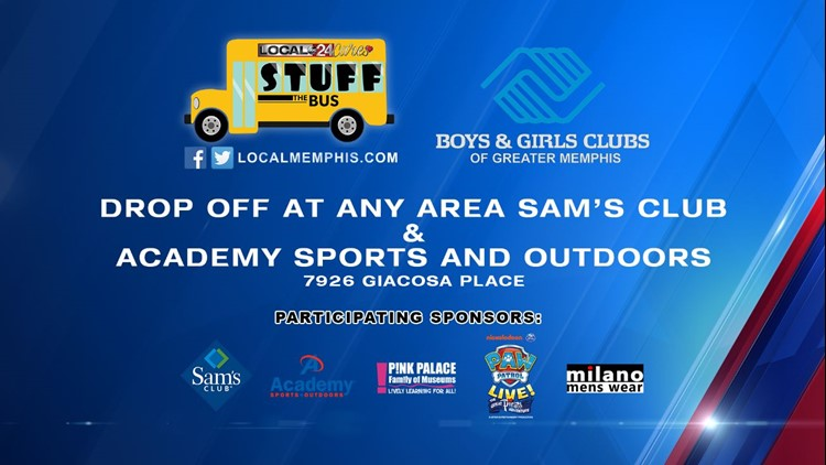 """WEB EXTRA: """"Stuff the Bus"""" with Local 24 Cares and the Boys & Girls Club of Greater Memphis"""