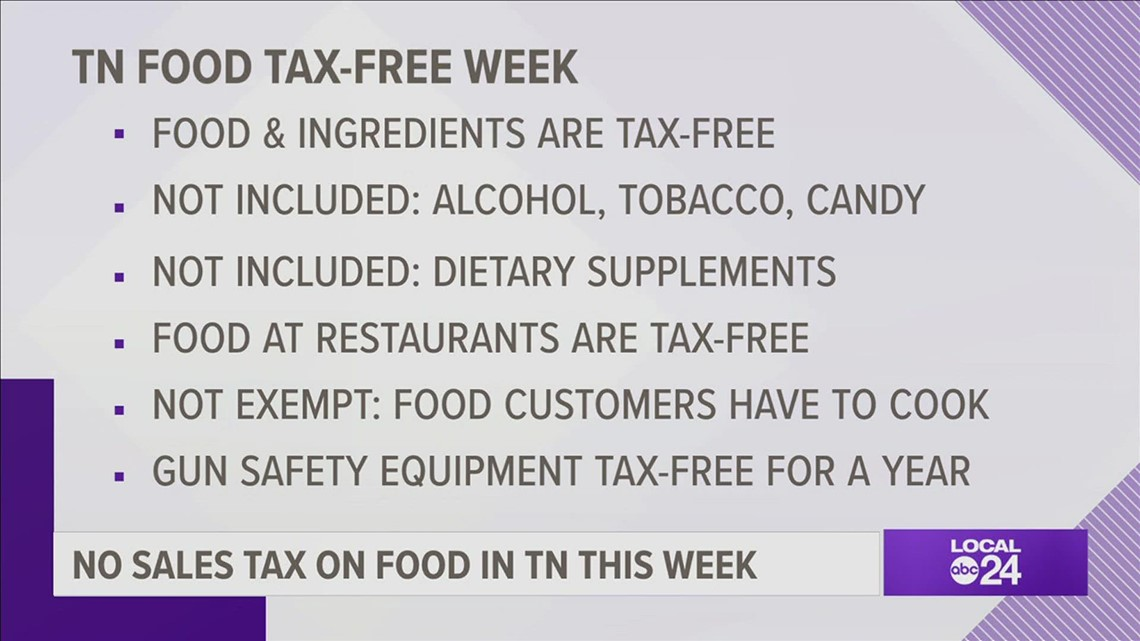 Tennessee is having a tax-free holiday for...FOOD