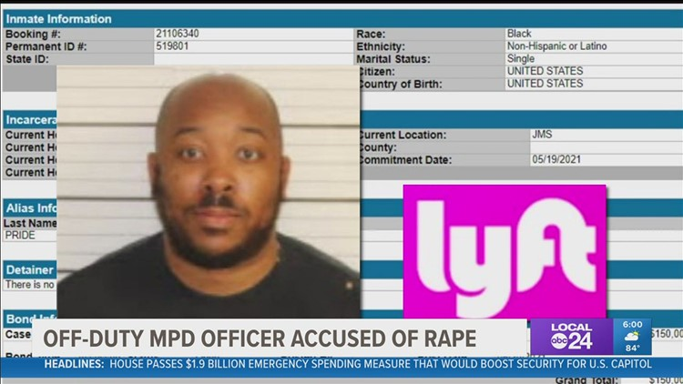 Memphis Police Officer charged with raping woman while off duty driving Lyft can post bond