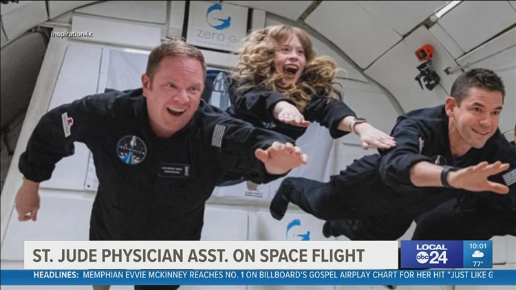 St. Jude physician assistant and childhood cancer survivor, Hayley Arceneaux, ready to launch into space