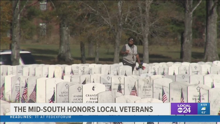 Family & friends remember beloved veterans on this special day