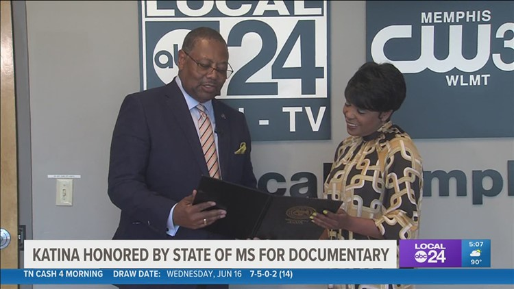 Local 24 News Weeknight Anchor Katina Rankin honored for her work on 'The Mule Train' documentary