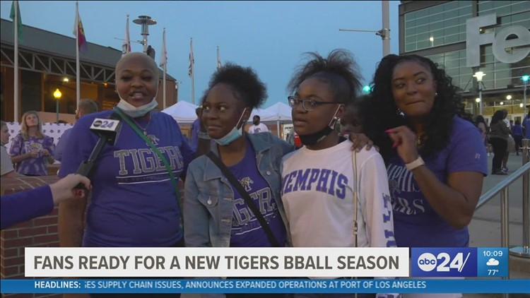 University of Memphis Tigers basketball fans get excited at Memphis Madness