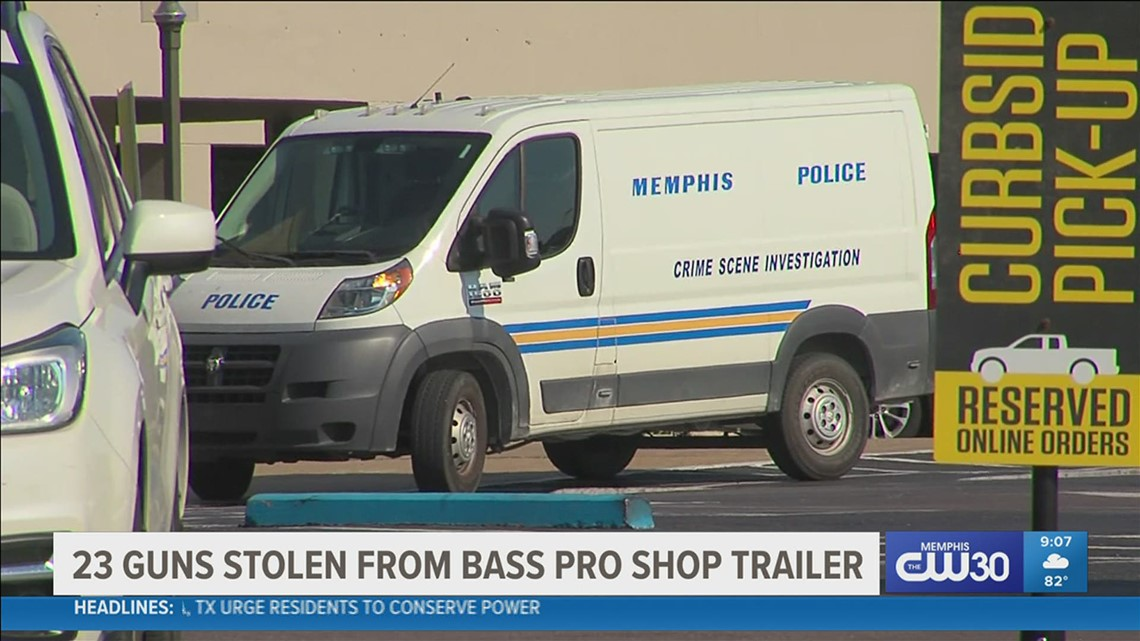 Wanted: Suspects stole nearly two dozen guns from semi-trailer at Bass Pro in northeast Memphis