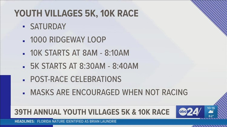 Youth Villages holds 39th annual 5K & 10 Miler this weekend
