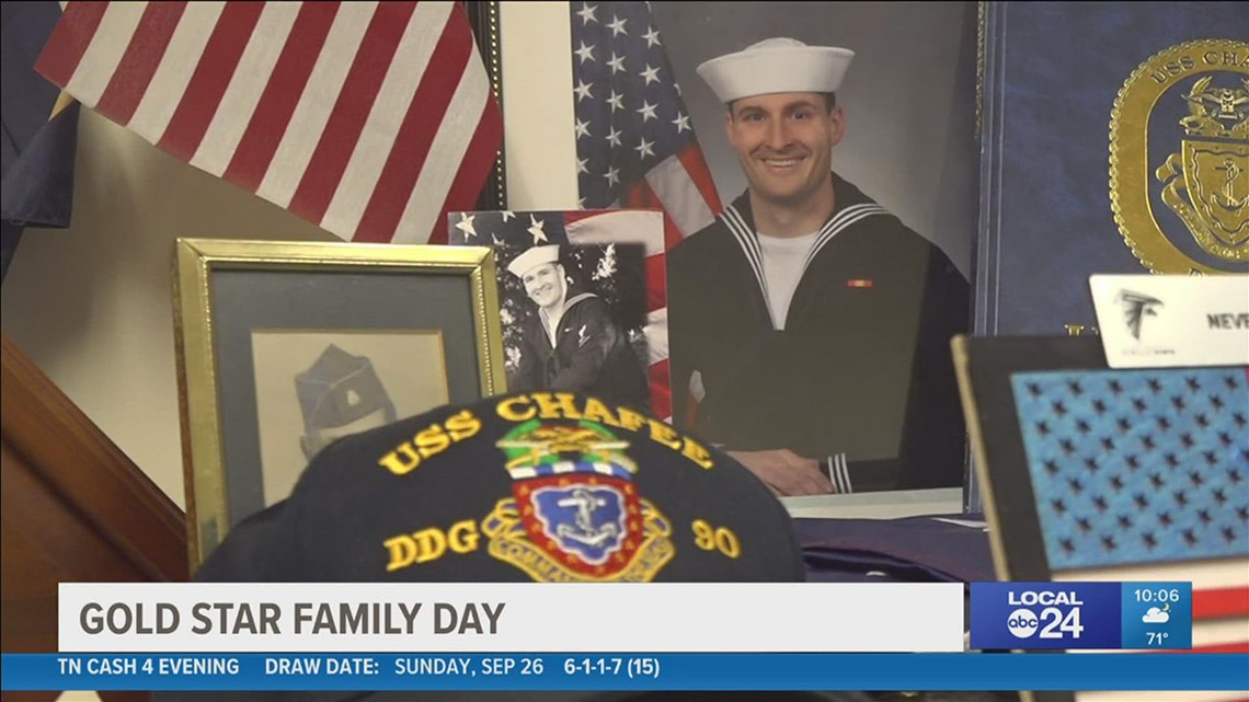 'I am sorry for your loss and thank you for your sacrifice'   Dad reflects on the loss of Navy son on Gold Star Families Day