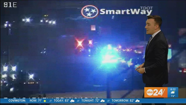 Traffic Alert: Tractor-trailer accident closes I-240 westbound at Millbranch Rd.
