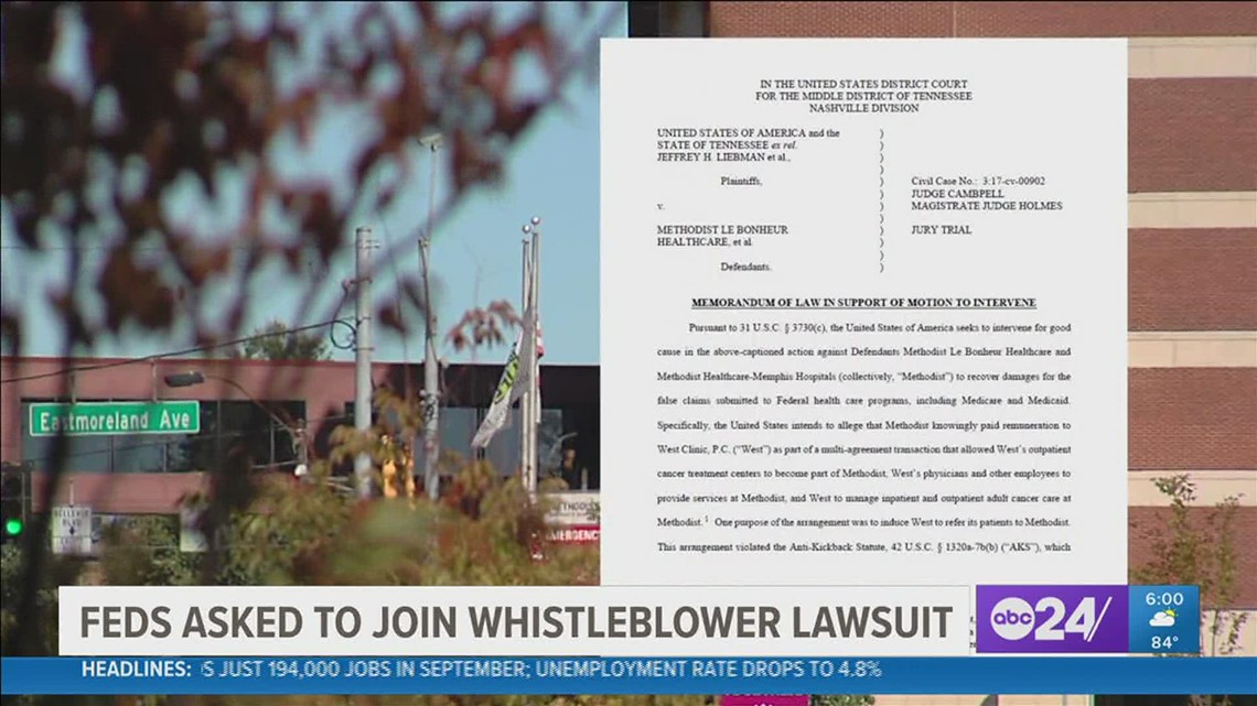 Feds ask to join whistleblower lawsuit against Methodist Hospital
