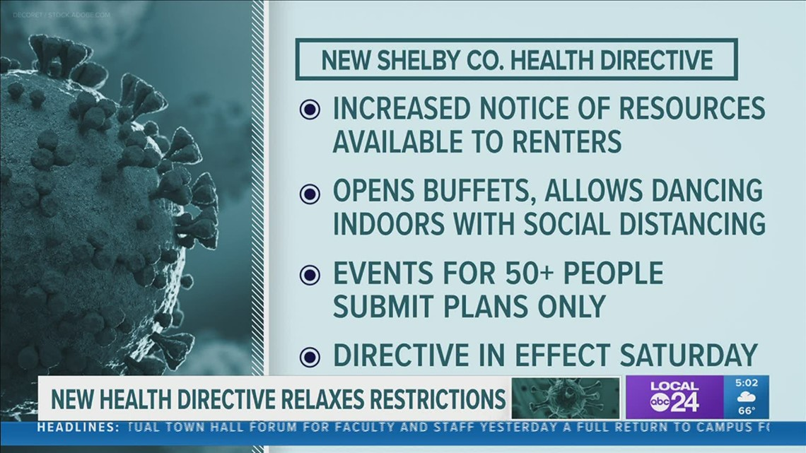 Buffets & dancing allowed: New Shelby County Health Directive eases restrictions on businesses