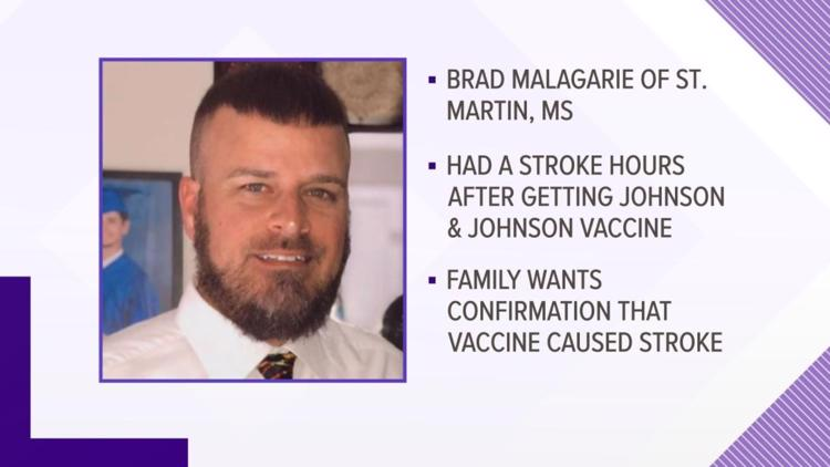 Family wants investigation to find out if Johnson & Johnson vaccine caused Mississippi man's stroke