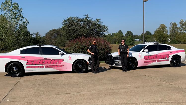 Desoto County Sheriff's Department is patrolling pink