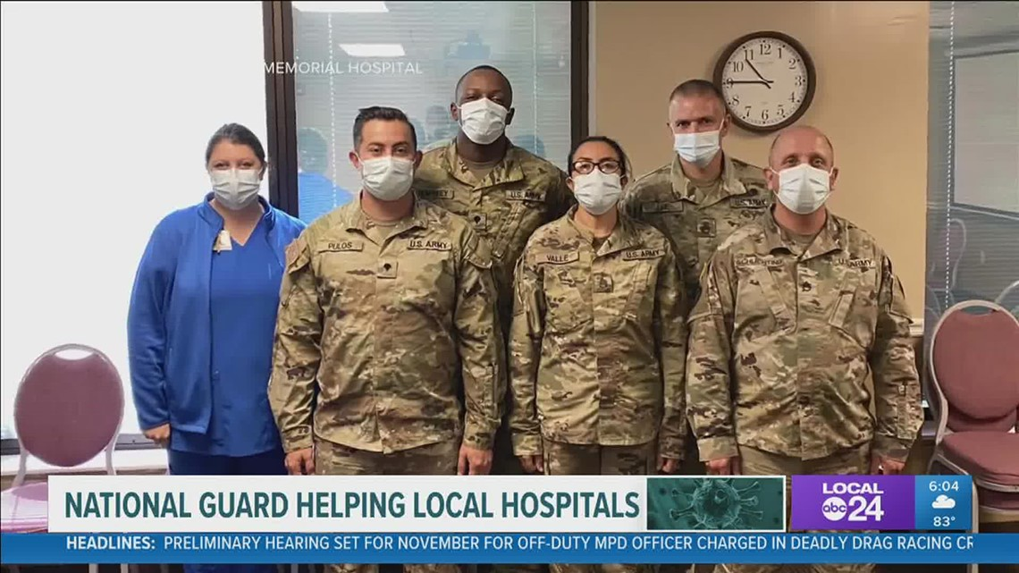 Members of Tennessee National Guard in Memphis to help hospitals in battle against COVID-19