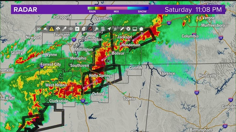 Severe weather 11pm mar 27