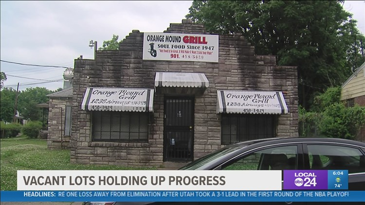 Investors are buying up land in Orange Mound, but some say it is slowing revitalization for the community