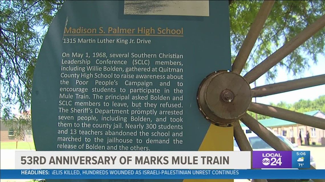 The 53rd anniversary of the Mule Train in Mark, Mississippi
