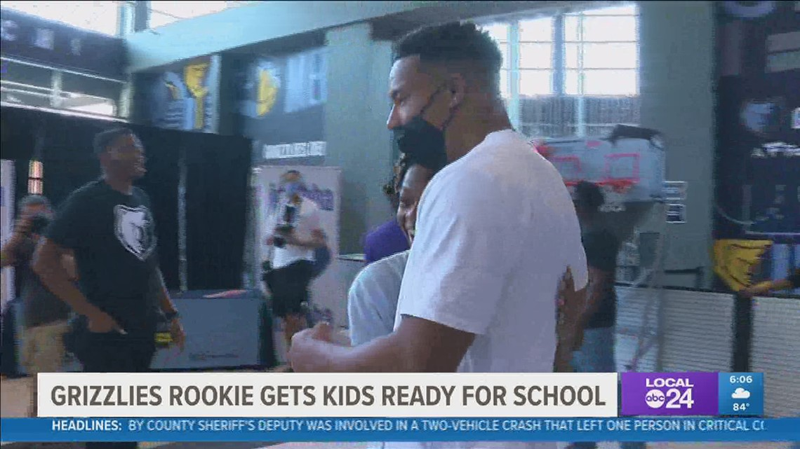 Grit, grind, & give back | Memphis Grizzlies Desmond Bane helps local students get ready for school