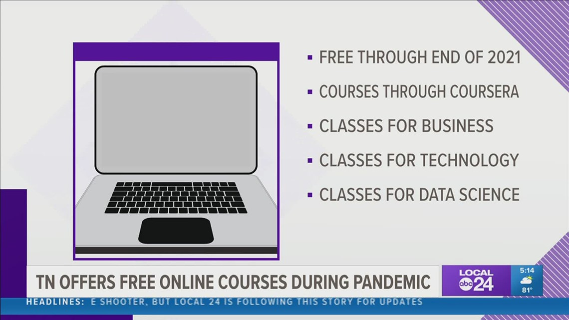 Tennessee offering free online courses amid COVID-19 pandemic