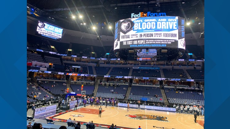 The Grizzlies joins Vitalant to help in the blood shortage