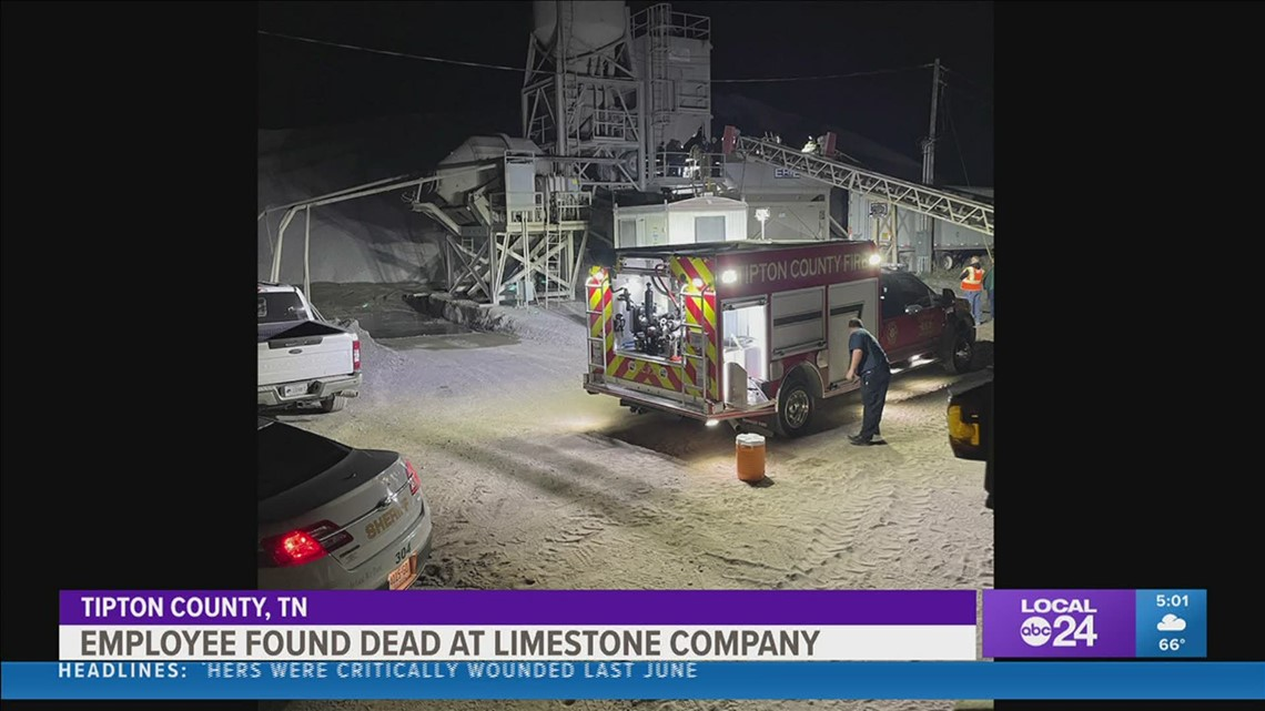 Employee found dead at Tipton County limestone company identified