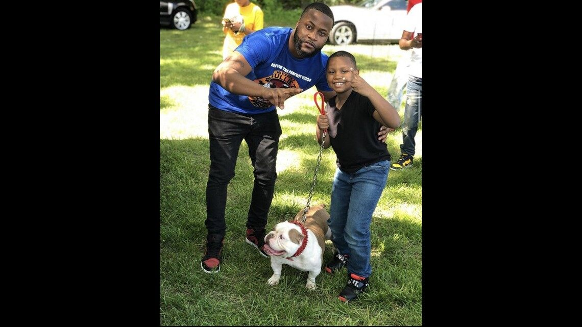 Local group of American Bully owners take a stand against racism at MLK Park