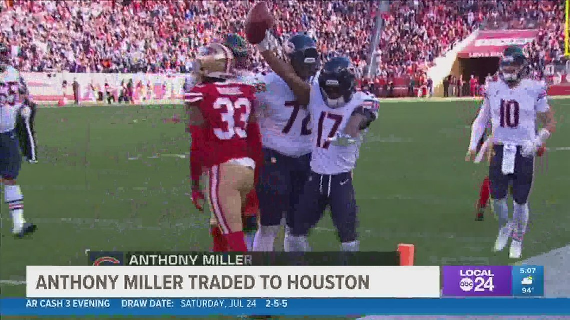 Former Memphis Tigers star Anthony Miller traded from Bears to Texans
