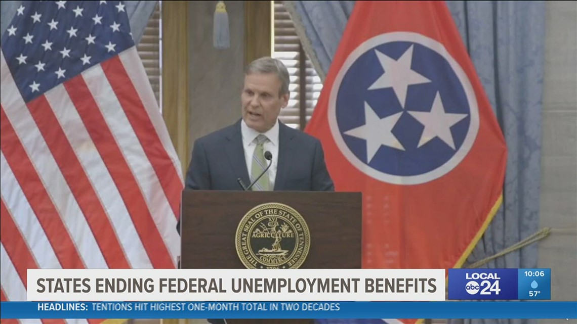 TN Gov. Bill Lee adds state to others refusing COVID Relief Unemployment Benefits to push people back to work