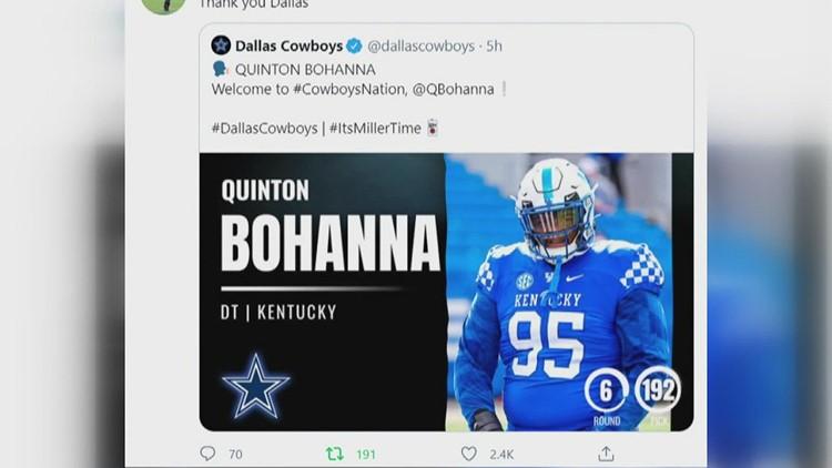 Cordova High School alum Quinton Bohanna makes Dallas Cowboys 53-man roster