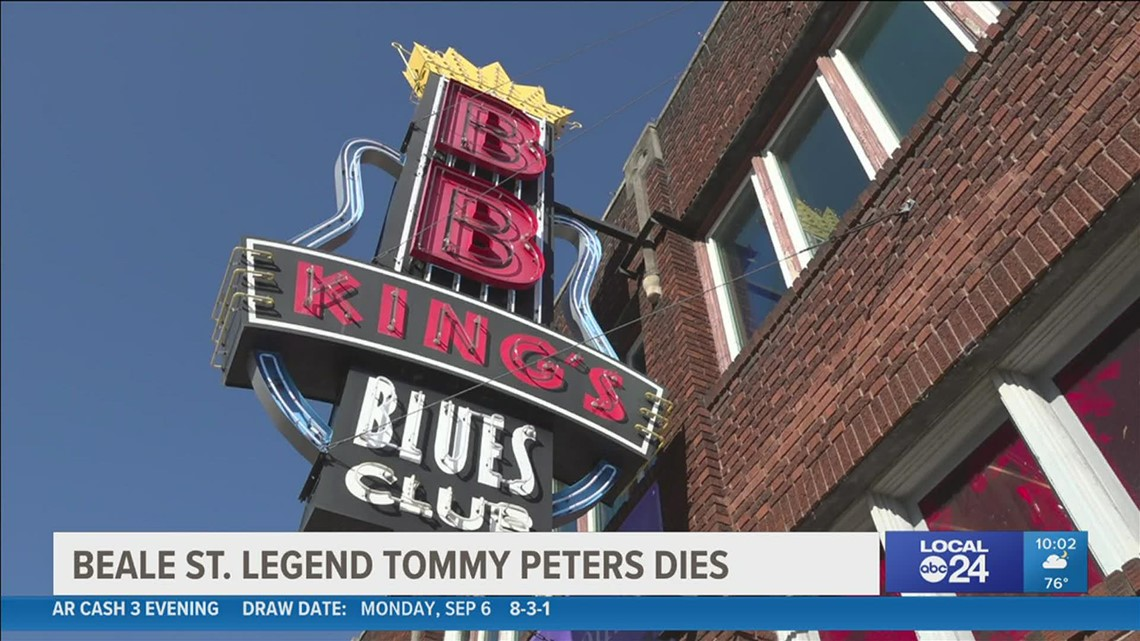 Tommy Peters, Beale Street businessman & founder of B.B. King's Blues Club in Memphis, has died after battling COVID-19