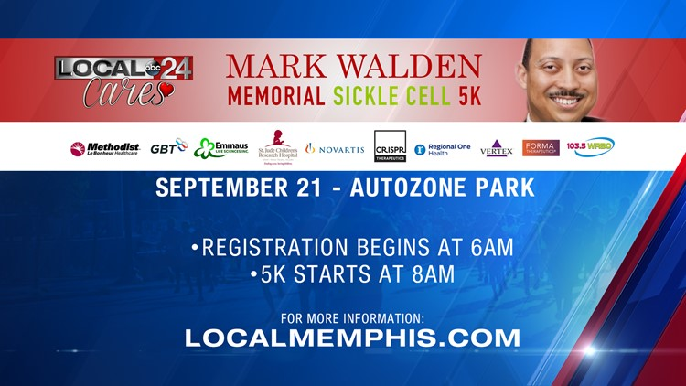Join Local 24 Cares at the Mark Walden Memorial Sickle Cell 5K Saturday at AutoZone Park