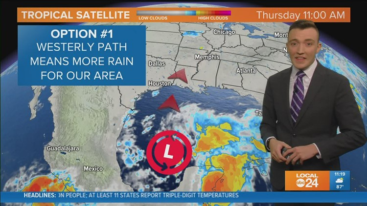 WATCH: Humidity going up, rain chances return by the weekend