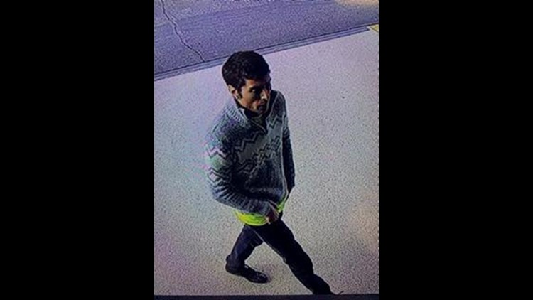 Police questioning person of interest regarding child abduction attempt at bus stop