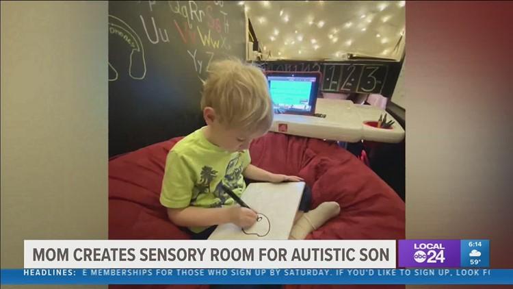 Cordova mom makes virtual sensory classroom for her son