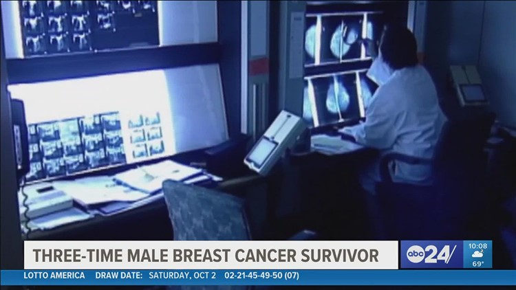 Three-time male breast cancer survivor hopes to help save lives by raising awareness