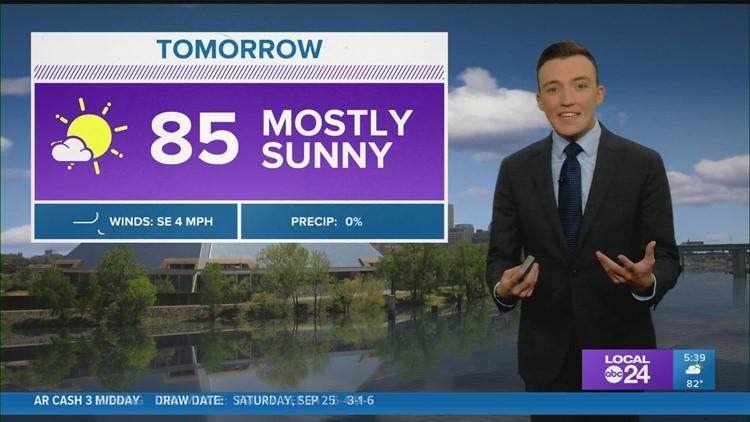 WATCH: Saturday evening weather forecast 9/25/21