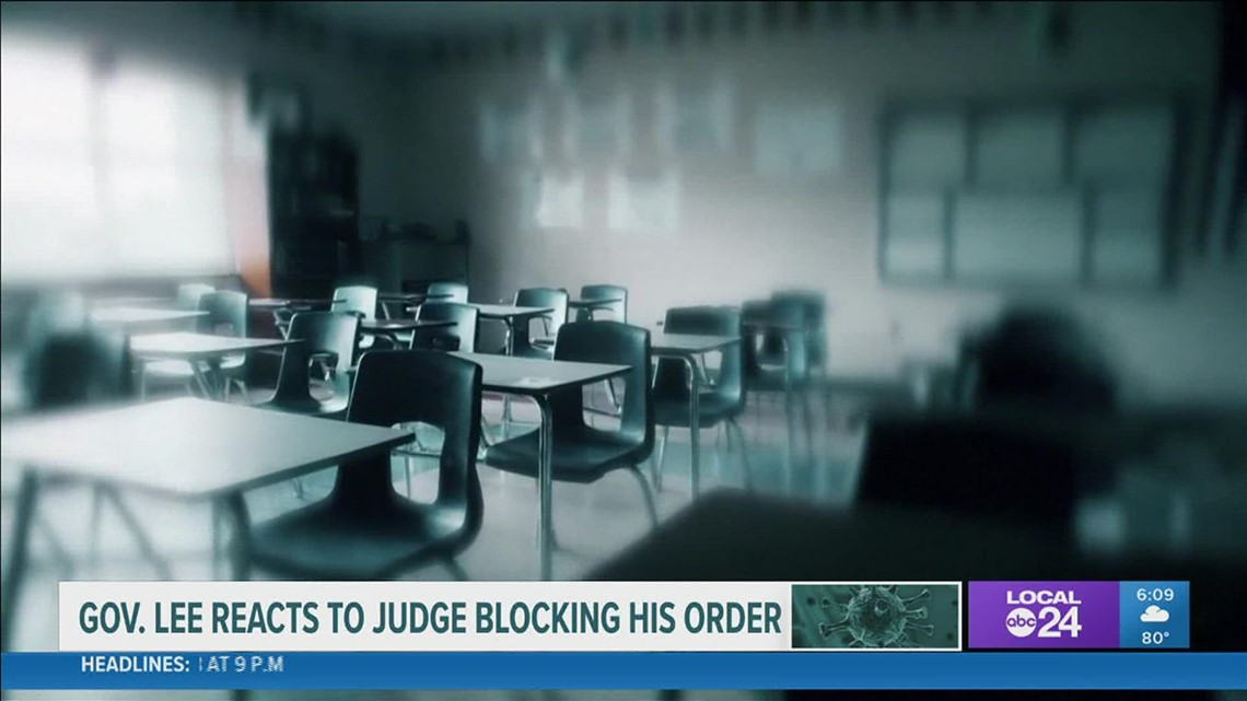 Federal judge blocks Gov. Bill Lee's mask opt-out executive order with preliminary injunction