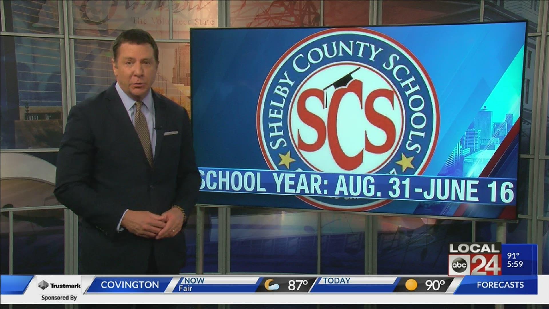 SCS Shelby County Schools revised 2020 2021 calendar