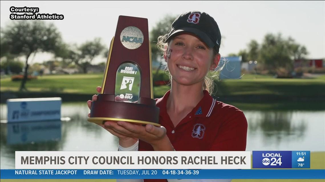 Memphis City Council honors NCAA champion golfer Rachel Heck