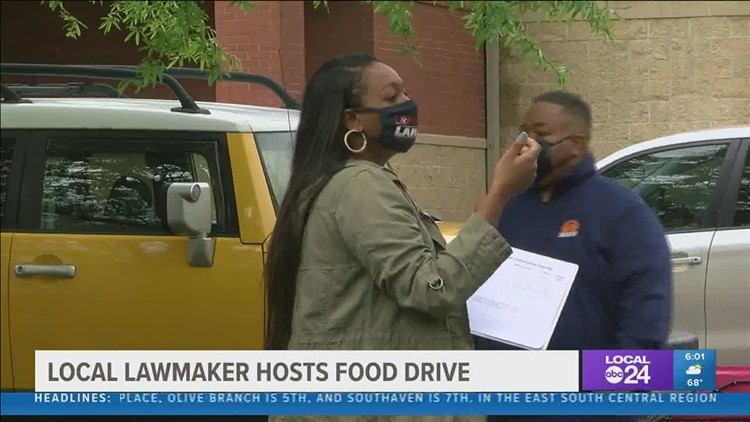 Local lawmaker hosts community food drive