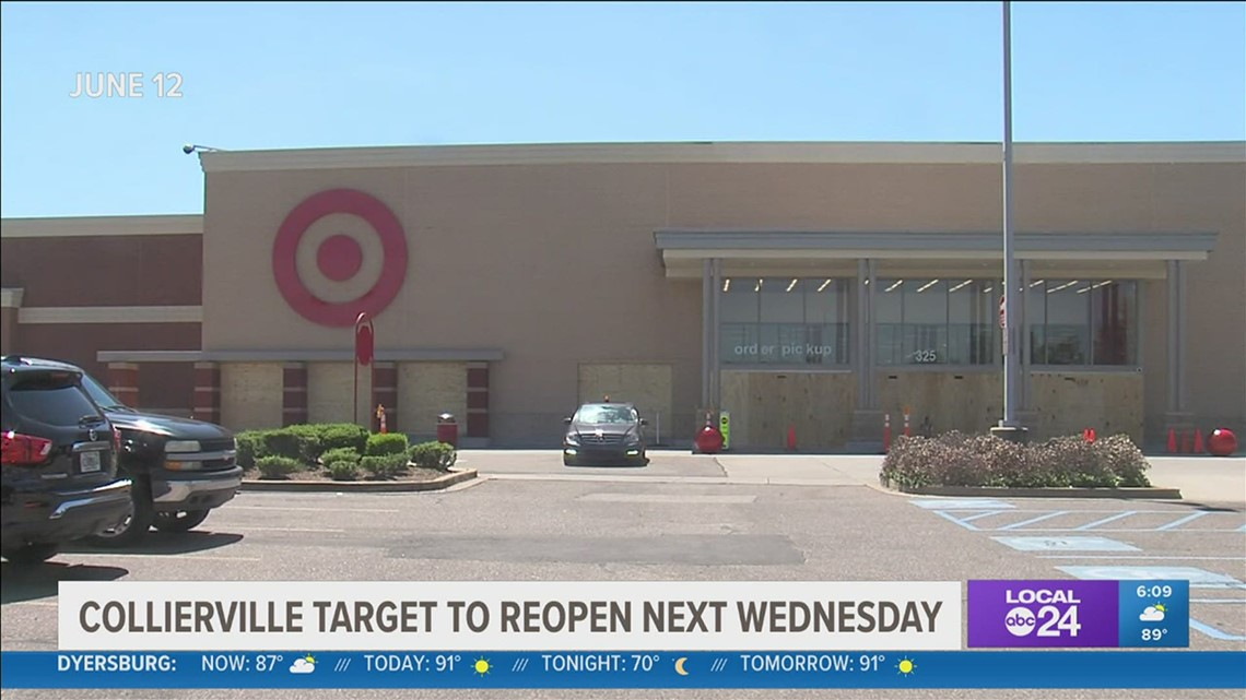 Collierville Target set to reopen in a week after fire last month