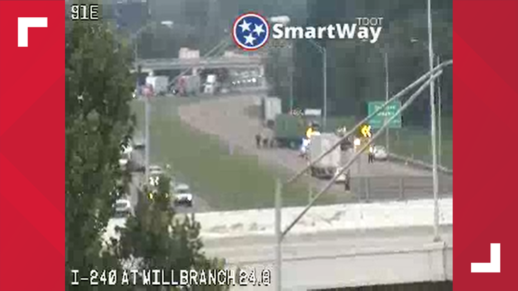 All lanes open after tractor-trailer accident on I-240 near Millbranch Rd.
